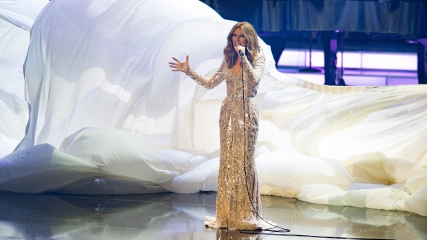 Celine Dion performs at The Colosseum at Caesars Palace on Thursday, Aug. 27, 2015, in Las Vegas. (Photo by Al Powers/Powers Imagery/Invision/AP)