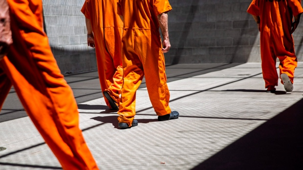 Inmates at Twin Falls County Jail in Idaho.