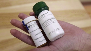 Bottles of the abortion-inducing drug RU-486 in Des Moines, Iowa on Wednesday, Sept. 22, 2010. The abortion pill will be widely available to women in Nova Scotia starting next month, part of a series of measures quietly adopted by the province over the last year aimed at improving abortion access..THE CANADIAN PRES/AP,Charlie Neibergall