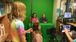 Students are learning to become broadcasters at Maple Grove Public School in Barrie, Ont. on Monday, September 24, 2018. (CTV News/KC Colby)