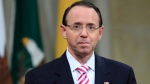 Deputy Attorney General Rod Rosenstein, walks to the stage during a Religious Liberty Summit at the Department of Justice, Monday, July 30, 2018. (AP / Manuel Balce Ceneta)