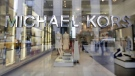 The Michael Kors name adorns his store on Madison Avenue, in New York, on May 31, 2017. (Richard Drew / AP)