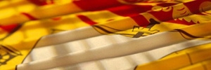 A detail of the New Brunswick flag