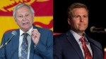 New Brunswick Progressive Conservative Leader and premier-elect Blaine Higgs and Liberal Leader Brian Gallant are shown in this composite photo. (The Canadian Press)
