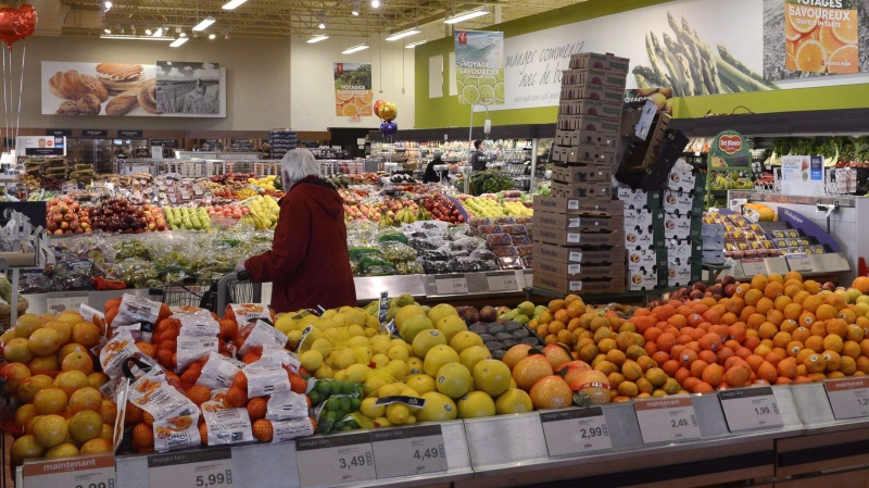 A customer shops for produce in Montreal on Monday, March 9, 2015. THE CANADIAN PRESS/Ryan Remiorz