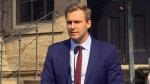 N.B Liberal Leader Brian Gallant speaks to media