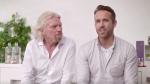 Ryan Reynolds and Richard Branson announce a new partnership. © Twitter/richardbranson