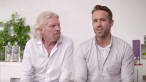 Ryan Reynolds and Richard Branson announce a new partnership. © Twitter/richardbranson