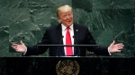 U.S. President Donald Trump addresses the 73rd session of the United Nations General Assembly, at U.N. headquarters, Tuesday, Sept. 25, 2018. (AP Photo/Richard Drew)