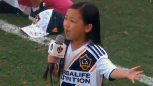 Malea Emma Tjandrawidjaja stunned the LA Galaxy crowd this past weekend.