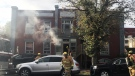 Fire broke out at an apartment on 13 Avenue in Regina on Sept. 25. (CREDIT: MARIEL HARVEY)