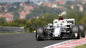 Sauber third driver Antonio Giovinazzi ahead of the Hungarian Formula One Grand Prix, on July 27, 2017. (Laszlo Balogh / AP)