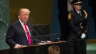 U.S. President Donald Trump addresses the 73rd session of the United Nations General Assembly, Tuesday, Sept. 25, 2018 at U.N. headquarters. (AP Photo/Mary Altaffer)