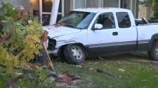 Police say the vehicle was being driven erratically at times before it crashed into a home the in the northwest on September 25, 2018.