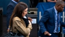 New Zealand Prime Minister Jacinda Ardern arrives holding her child Neve during the 73rd session of the United Nations General Assembly, at UN headquarters, Tuesday, Sept. 25, 2018. (AP Photo/Craig Ruttle)