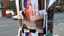 Posters for a sex doll brothel, similar to a controversial business that was briefly open in Toronto, have started appearing in downtown Vancouver.