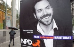 A campaign poster of Quebec NDP leader Raphael Fortin is seen in Montreal, Tuesday, Sept. 25, 2018. THE CANADIAN PRESS/Ryan Remiorz