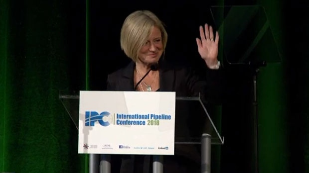 Premier Rachel Notley addressed industry leaders at the 2018 International Pipeline Conference on Tuesday, September 25, 2018.