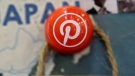 A pin signifies the Pinterest office in Japan on a map at the Pinterest office in San Francisco, Wednesday, April 1, 2015. Pinterest is opening its first office in Canada in Toronto at the start of October in an effort to expand its presence outside of the U.S. THE CANADIAN PRESS/AP, Jeff Chiu