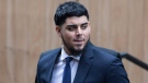 Houston Astros' Roberto Osuna arrives at a Toronto court on Tuesday, September 25, 2018. The former Toronto Blue Jays pitcher agreed to a peace bond that led to the withdrawal of an assault charge against him. THE CANADIAN PRESS/Chris Young