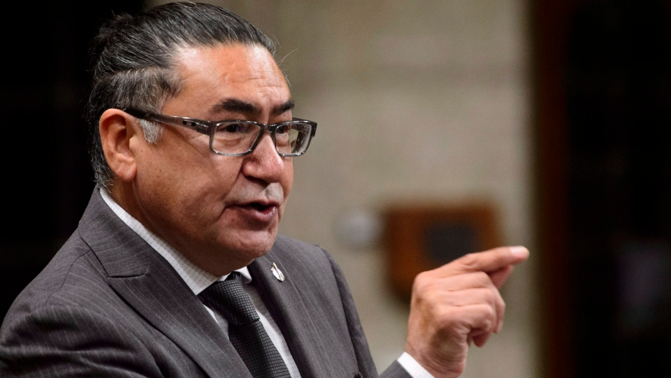 NDP MP Romeo Saganash stands during question period in the House of Commons on Parliament Hill in Ottawa on Tuesday, Sept. 25, 2018. (THE CANADIAN PRESS/Sean Kilpatrick)