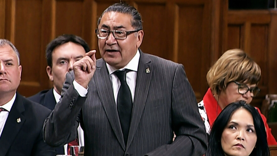 MP Romeo Saganash speaks during question period in the House of Commons on Tuesday, Sept. 25, 2018.