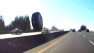 High-speed runaway tire narrowly misses driver