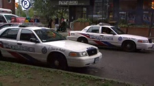 Police respond to reports of a shooting in the area of Sackville and St. Bartholomew streets on Sept. 25, 2018.