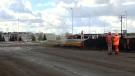 Gas leak in east Regina on Sept. 25. (CREESON AGECOUTAY/CTV REGINA)