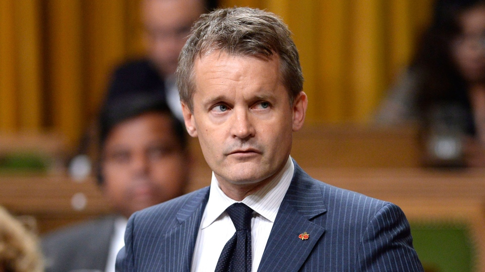 Seamus O'Regan rises during Question Period in the House of Commons on Parliament Hill in Ottawa on Monday, Sept. 24, 2018. THE CANADIAN PRESS/Justin Tang