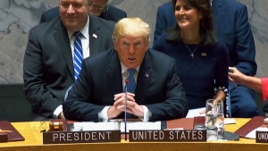 Trump arrives at UN to head Security Council