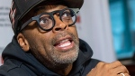 American film director Spike Lee responds to a question during a news conference in Montreal on Wednesday, September 26, 2018. THE CANADIAN PRESS/Paul Chiasson