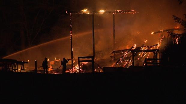 Courtenay barn fire