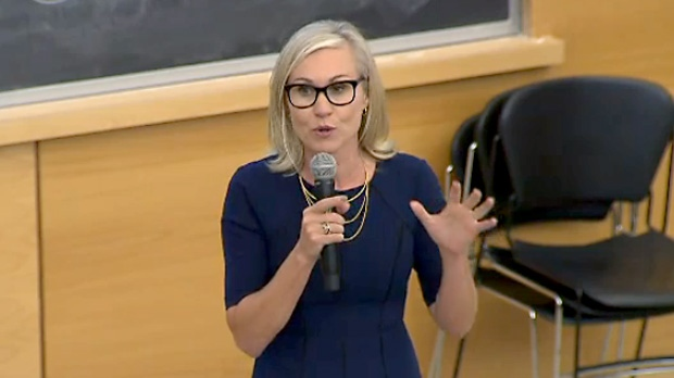 Mayoral candidate Jennifer Keesmaat participates in a transit debate hosted by TTCRiders group on September 26, 2018.