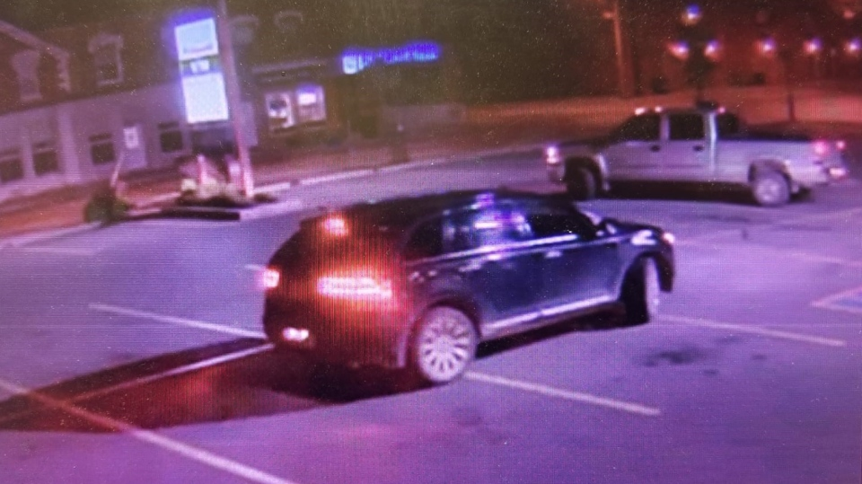 Security image of an SUV believed to be involved in an ATM store theft. (Courtesy: OPP)