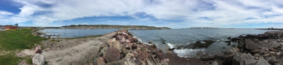 Looking out onto the Atlantic from Anse à Bertrand on Saint-Pierre. (W5)