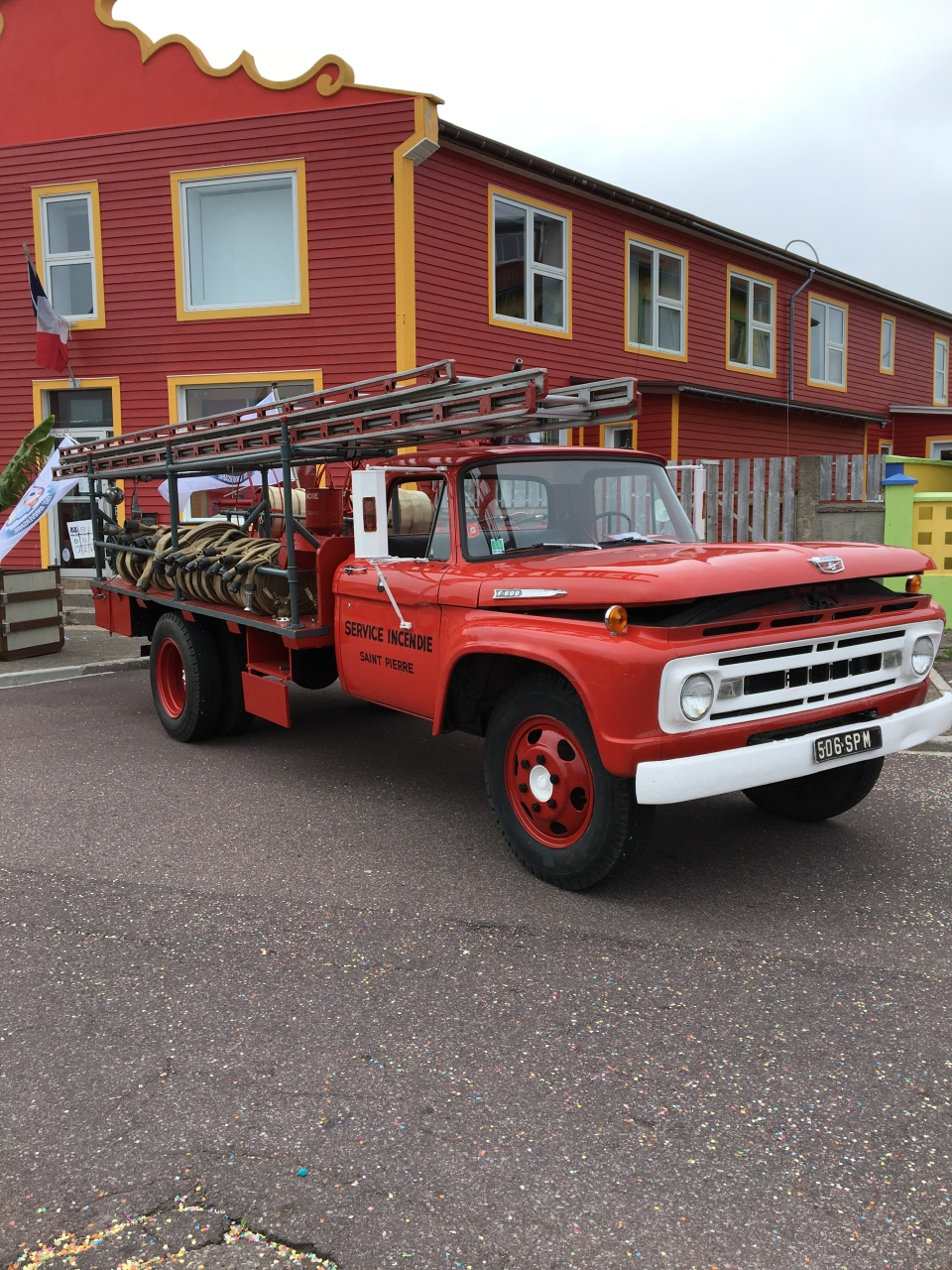 Saint-Pierre's fire department is strictly volunteer – and they hang onto their trucks for the long term. (W5)