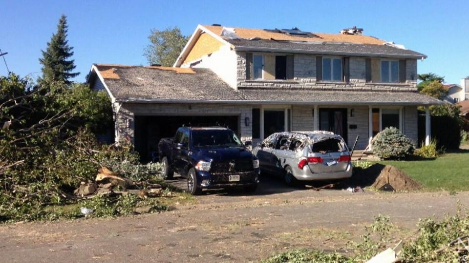 Steve Plummer's van was destroyed by a tornado that struck the Arlington Woods neighbourhood of Ottawa, on Friday, Sept. 21, 2018.