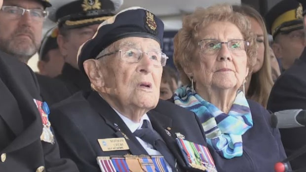 97-year-old Norman Crewe, who joined the Navy in 1940 and made at least 14 rounds trips across the Atlantic during the Second World War, dodging enemy U-Boats as he delivered essential food and ammunition to Britain.