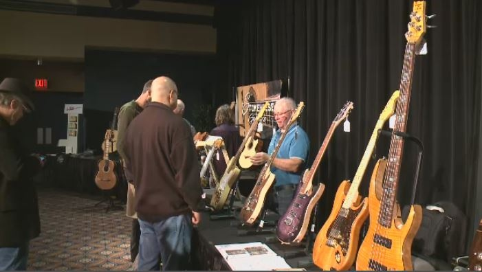 Hundreds of music fans gathered at the Conexus Arts Centre on Sept. 29, 2018 for the third annual Regina Guitar Show.