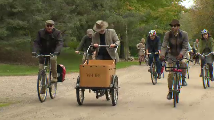 Tweed-clad cyclists came out in force to ride in the Guelph Tweed Ride.