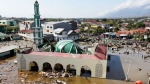 The ruin of a mosque badly damaged by earthquake and tsunami is seen in Palu, Central Sulawesi, Indonesia, Saturday, Sept. 29, 2018. The powerful earthquake rocked the Indonesian island of Sulawesi on Friday, triggering a 3-meter-tall (10-foot-tall) tsunami that an official said swept away houses in at least two cities. (AP Photo/Rifki)