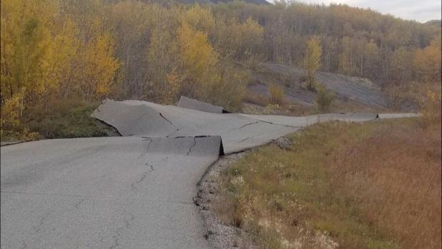 landslide near Site C