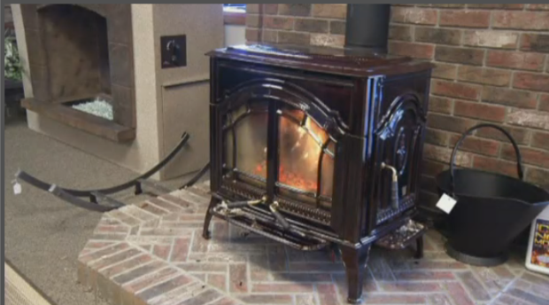 A fireplace that now needs to be registered