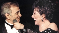 Charles Aznavour and Liza Minnelli
