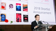 Canadian comedian Rick Mercer speaks during the announcement for the 2018 Scotiabank Giller Prize Shortlist in Toronto on Monday, October 1, 2018. Mercer will host the awards. THE CANADIAN PRESS/Nathan Denette
