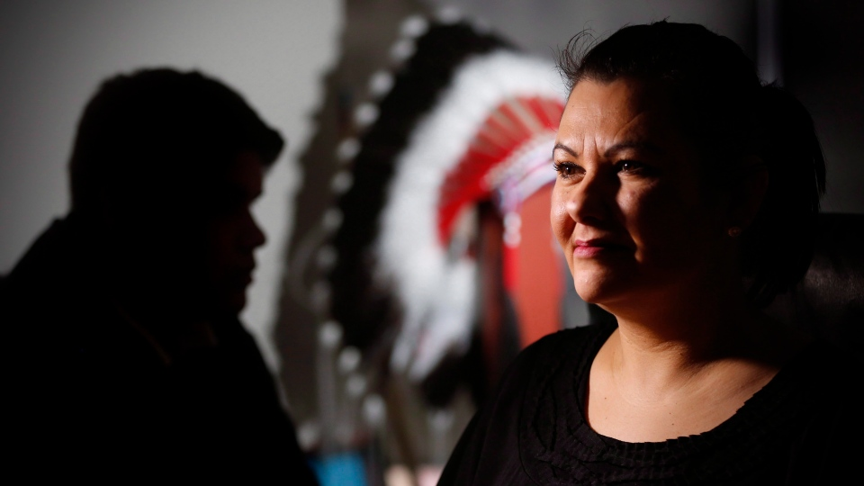 Cora Morgan, First Nations Family Advocate at The Assembly of Manitoba Chiefs (AMC) in Winnipeg, Monday, February 22, 2016. THE CANADIAN PRESS/John Woods