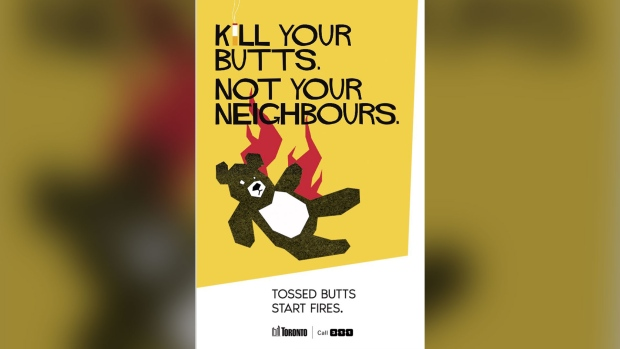 Toronto cigarette campaign