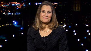 Foreign Affairs Minister Chrystia Freeland on CTV National News on Monday October 1, 2018. (CTV News)