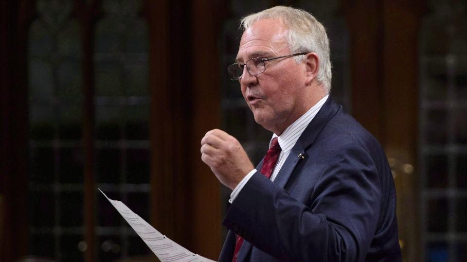 Bill Blair, Minister of Border Security and Organized Crime Reduction, stands during question period in the House of Commons on Parliament Hill in Ottawa on Monday, Sept. 17, 2018. Irregular border crossers being housed temporarily in hotels in Toronto will have their stays extended by four weeks while officials continue to search for a longer-term solution. THE CANADIAN PRESS/Sean Kilpatrick